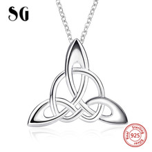 цена SG 2018 new arrival 100% 925 sterling silver diy design knot pendant chain necklace fashion jewelry making for women gifts