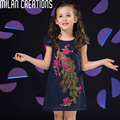 Girls Summer Dress Princess Costume 2016 Brand Kids Clothes Girls Dresses Children Peacock Embroidery Kids Dresses for Girls