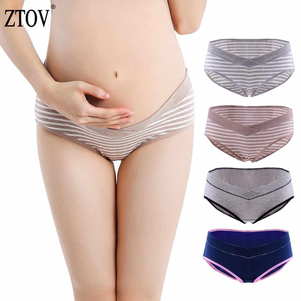 8a65fe2655d03 ZTOV 4Pcs/lot Maternity Panties Pregnancy Underwear Briefs Clothing For  Pregnant Women Cotton Low Waist