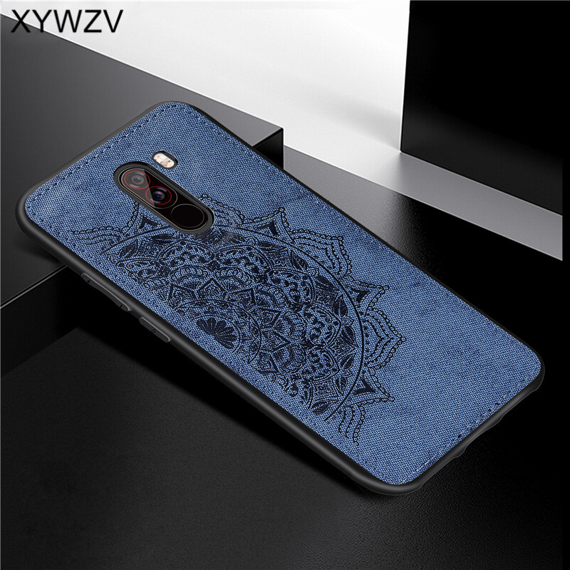 Image 4 - Xiaomi Pocophone F1 Case Soft TPU Silicone Cloth Texture Hard PC Phone Case For Xiaomi Pocophone F1 Cover Xiaomi Pocophone F1-in Fitted Cases from Cellphones & Telecommunications