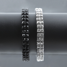2 Row Iced Out Cubic Zirconia Bracelet Bling Tennis Chain Bracelets Rhinestone Women Men CZ Link Chain For Men Hip Hop Jewelry недорого