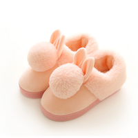 Kids Slippers Animal Cotton Rabbit Slippers Winter Warm Plush Baby Home Slippers Boys Girls Toddler Shoes