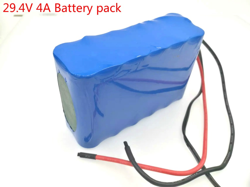 24V 7S2P 4000mah 4AH 18650 Battery Pack / LED lamps using alternate power supply / electric bicycle batteries Free shipping