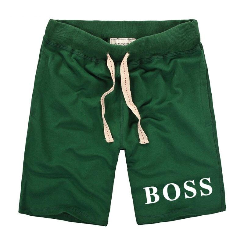 El jefe impresión Casual para los hombres 2018 marca de moda de Corea del estilo de los hombres rectos pantalones cortos elástico cintura algodón cómodo