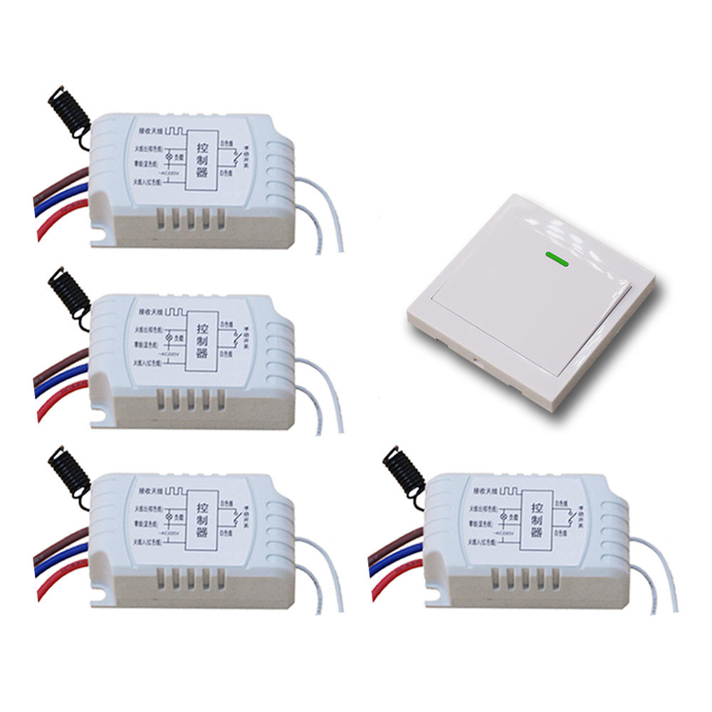 AC220V Wireless Remote Control Switch Manual Switch RF Remote Switch For LED Lamp Lighting Gate Transmitter 315Mhz/433.92Mhz 330mhz 8 dip switch 5326 auto gate duplicate remote control