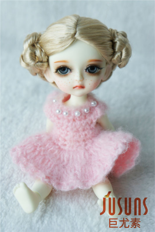 1/8 doll wigs 5-6inch  Lovely Ballerina Wigs   Lati yellow synthetic mohair BJD wig  Porcelain doll accessories