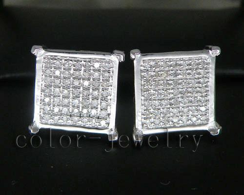 0.59Ct Natural Earrings,Elegant Earrings Stud In Solid 14Kt White Gold Sale