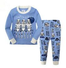 2016 Autumn Children Boy Clothing Set Storm Troopers Suit Long Sleeve Kids Star War Pajamas Home Wear 2pcs Top+Pant Sleepwear