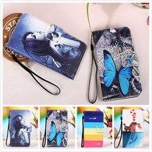 """Stand Style aimant Flip Side couverture de portefeuille pour Alcatel one touch Idol 3 ( 4.7 """" ) fleur Paiting motif PU cuir cas de téléphone"""