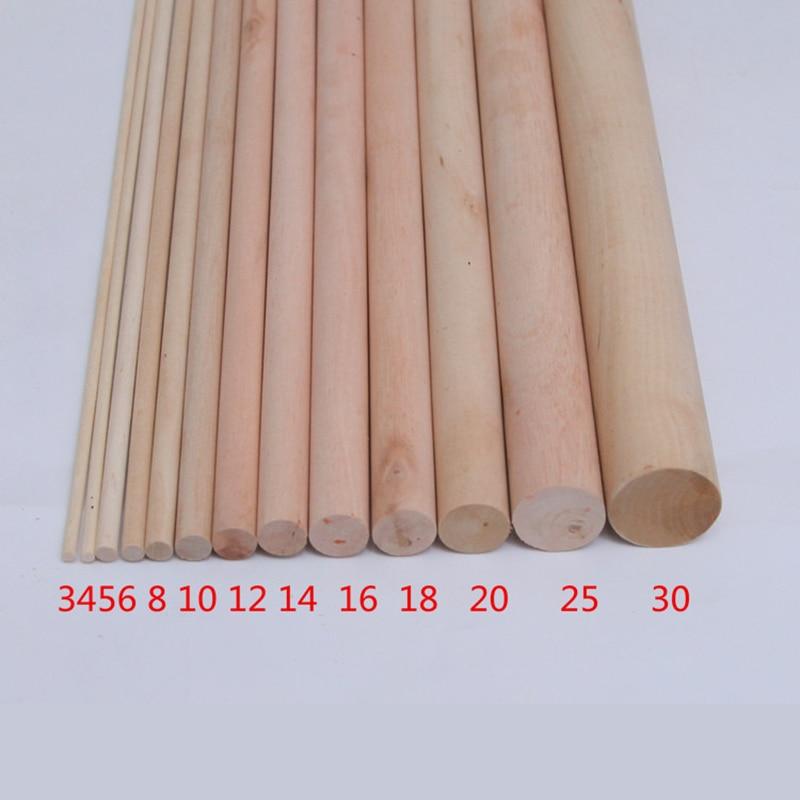 30pcs 3/4/5/6/8/10/12/15/20/33mm Birch rods round wooden sticks/DIY toy accessories/Kids Hand Crafts Art/technology model parts