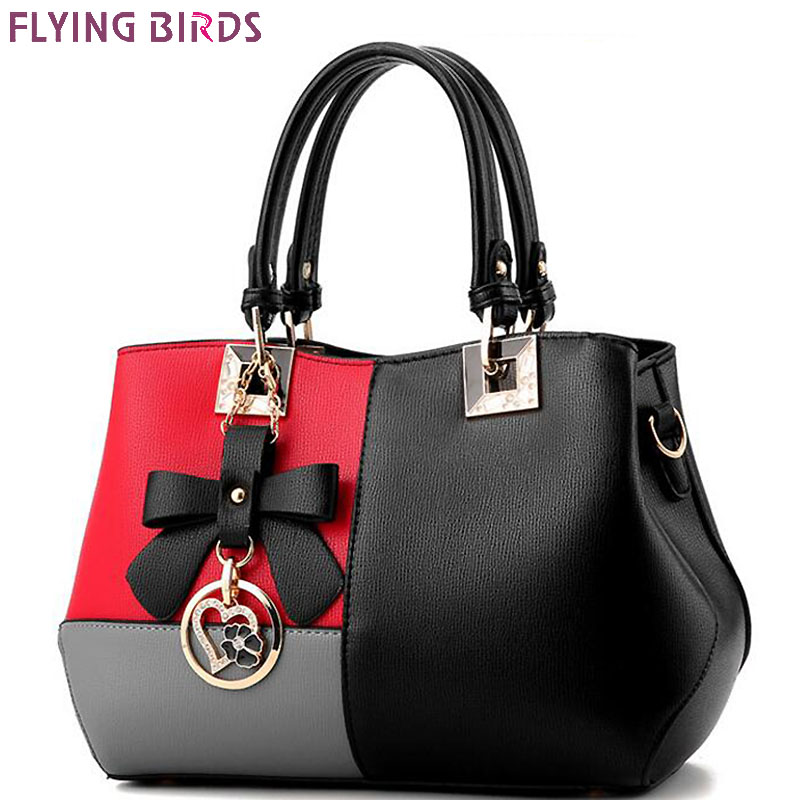 ФОТО FLYING BIRDS 2017 women leather handbag luxury tote women handbag designer  messenger bags ladies shoulder bag new LM4399fb