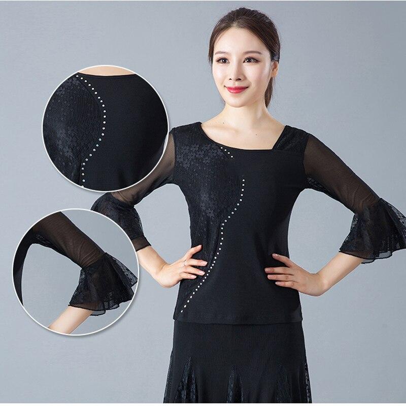 Женские костюмы для бальных танцев, топы, латинские танцевальные блузки, современные стандартные наряды, танго, вальс, Сальса Самба, топы для взрослых