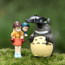 Japanese Cartoon Anime Classic Scene Satsuki Back Xiaomei My Neighbor Totoro Mini Decoration Toy Action Figures 4-5cm Toys Gifts(China)
