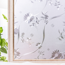 CottonColors  Window Privacy Films Home Decorative PVC No-Glue 3D Static Flower Decoration Glass Sticker Size 45 x 200cm