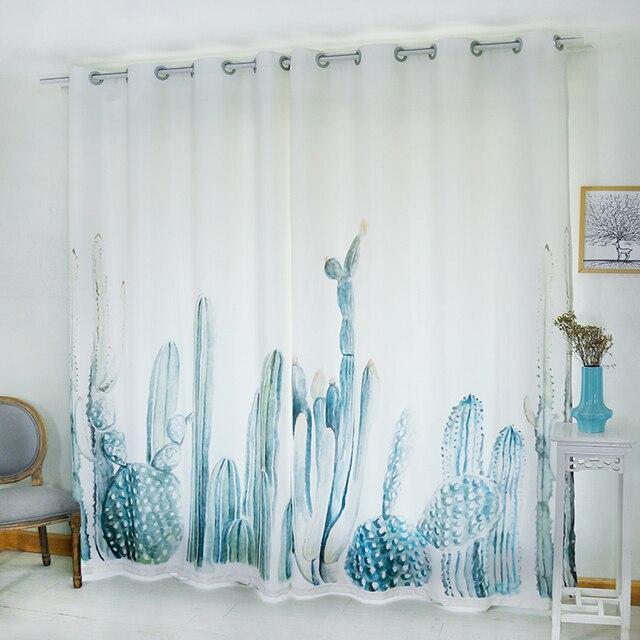 Gardinen Muster Für Wohnzimmer   Blackout Blume Vorhang Tropical Cacti Grunen Pflanzen Muster