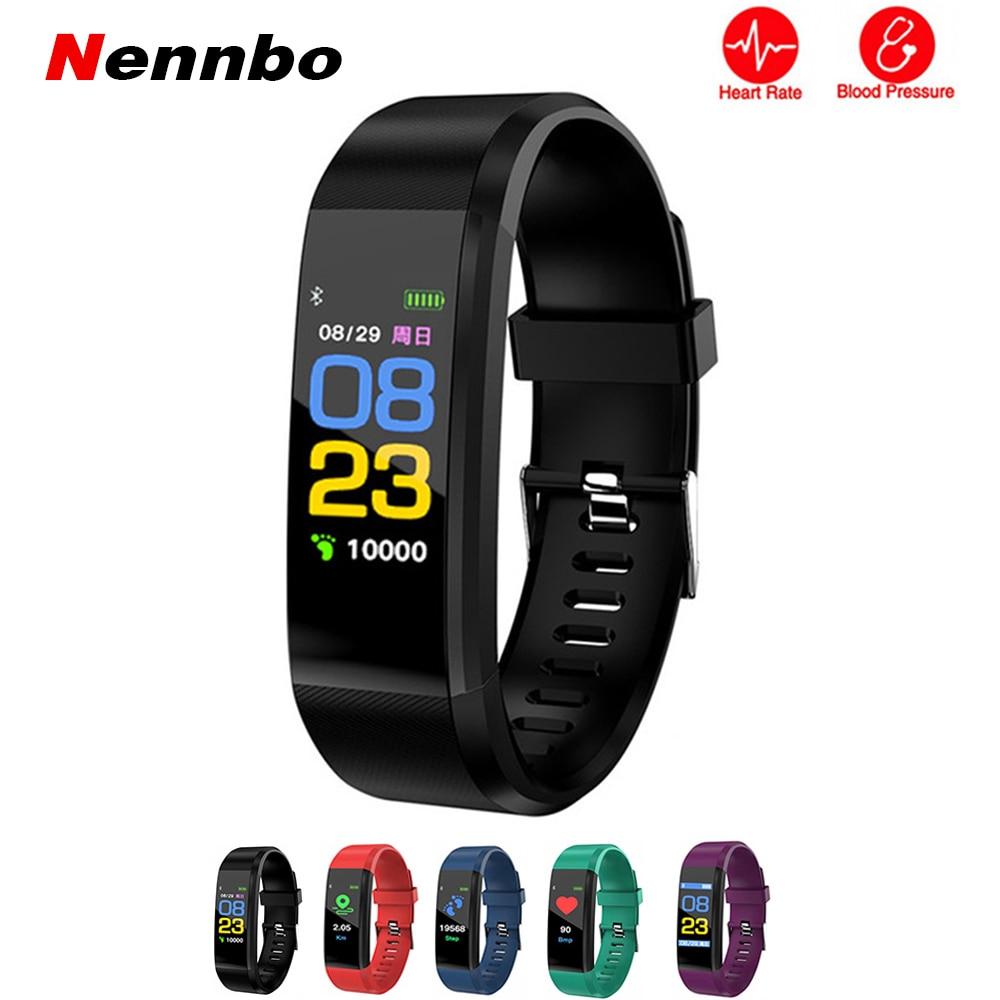 Nennbo ID115 Plus Smart Wristbands Health Monitor Heart rate Blood Pressure Pedometer Bluetooth Waterproof Sports Bracelet