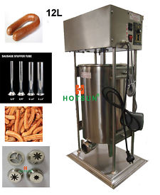 Free Shipping 12L Heavy Duty Auto Electric Spanish Churros Machine N Sausage Salami Stuffer дырокол deli heavy duty e0130