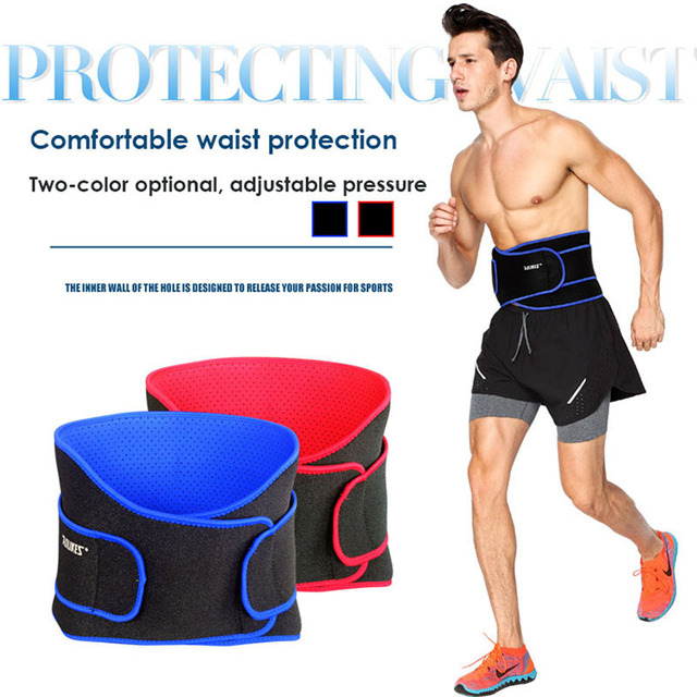 AOLIKES Breathable Waist Support Sports Bodybuilding Back Pressurized Belt Fitness Weightlifting Elastic Training Equipment