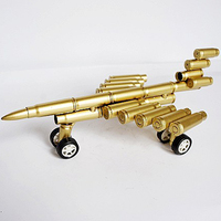 Fighter Military Model War Airplane Aircraft Simulation Bullet Crafts Figures For Children Toys Gifts New Year