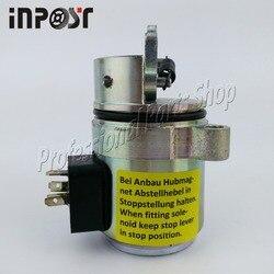 Elektromagnetyczny odcinający paliwo 04272733 dla Deutz 1011 miniładowarki Bobcat 863 873 S250 12 v