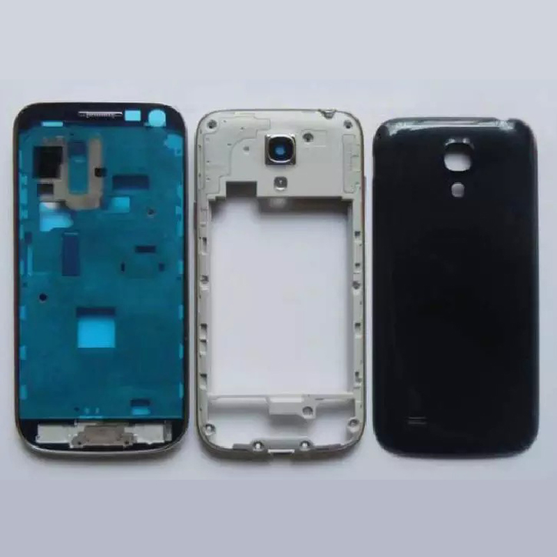 NEW Full Housing For Samsung Galaxy S4 mini i9190 i9195 i9192 Dual card Front Frame + Middle Frame + Battery Cover Repair Parts