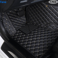 Tane leather car floor mats For jaguar xf 2018~2019 xj F PACE 2018 F TYPE 2013~2019 XK accessories carpet rugs