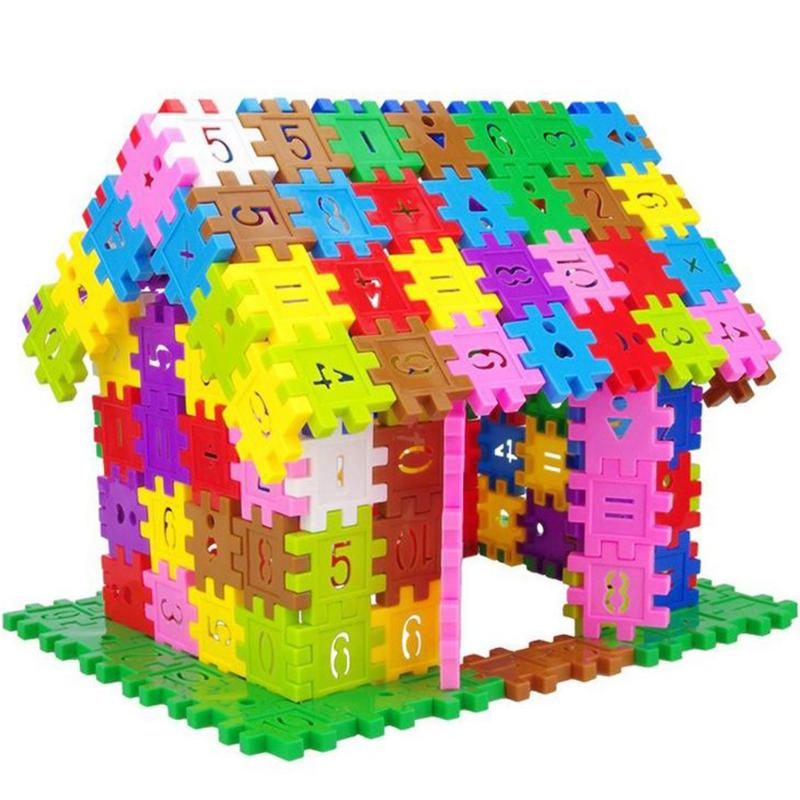 100pcs 300pcs Educational Building Blocks Model Toys DIY Assembly Number  Pattern Block Bricks Montessori Toy Storage Box Package In Blocks From Toys  ...