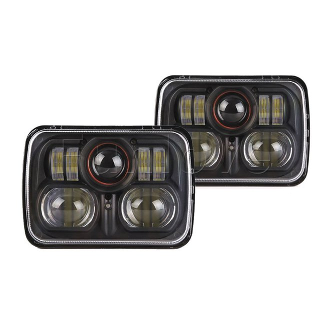 WHDZ 1PC 7inch high low sealed beam conversion led headlamp for Jeep Cherokee XJ Off Road 5 X 7 Inch square LED Headlights