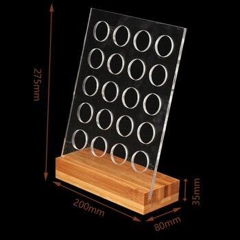 1 PC Acrylique Caf Pod Titulaire Rack Capsule De Stockage Stand avec Base De Bambou pour