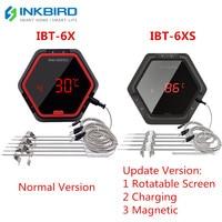 Inkbird IBT 6X 6XS 2 Arten Lebensmittel Kochen Bluetooth Wireless BBQ Thermometer 6 Sonden & Timer Für Ofen Fleisch Grill freies App Control-in Temperaturinstrumente aus Werkzeug bei