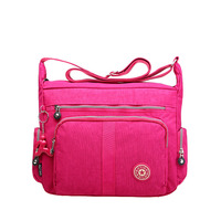 New Fashion Candy Color Women Handbag Waterproof Nylon Messenger Bags Female Shoulder Bag Ladies Crossbody Bags