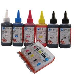 Image 1 - 6 INK For CANON pixma MG7740 TS8040 TS9040 printer PGI 470 CLI 471 refillable ink cartridge + 6 Color Dye Ink 100ml