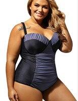 Plus Size Swimwear Female Underwire Super Push Up One Piece Swimsuit Women Sexy One Piece Swim Suits 2017 Large Size Swimsuits