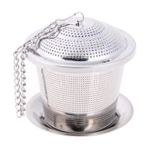Stainless Steel Mesh Tea Infuser Reusable Strainer Loose Leaf Spice Filter E#CH
