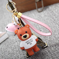 Personality Toy Keychain Extremely Cute Teddy Bear Little Bells Pendant For Car Pendants Bag Charms Ornament Lovely Gift