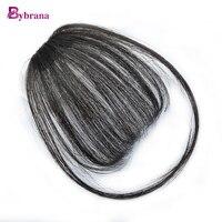 Bybrana 100 Human Remy Hair Bangs Short Hair Clip In Natural Color Hair Human Hair Extensions