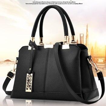 Fashion PU Women Handbag Shoulder Bag Tote Clutch Crossbody Messenger Tree Pendant Decoration