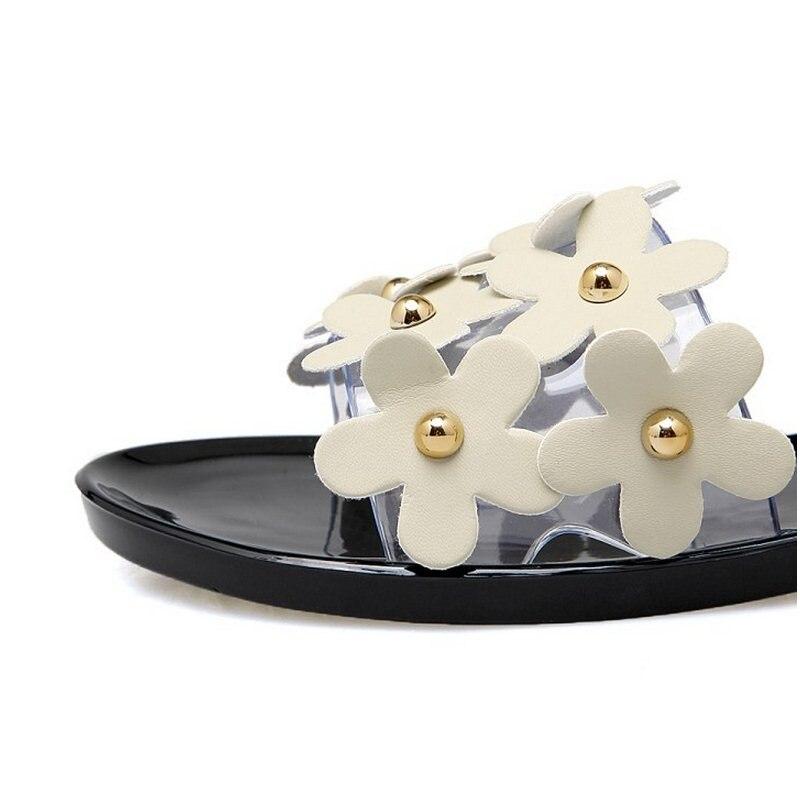KemeKiss Size 36-40 Women Flower Sweety Slip On Shoes Women Open Toe Soft Slippers Women Comfortable Summer Beach Footwear