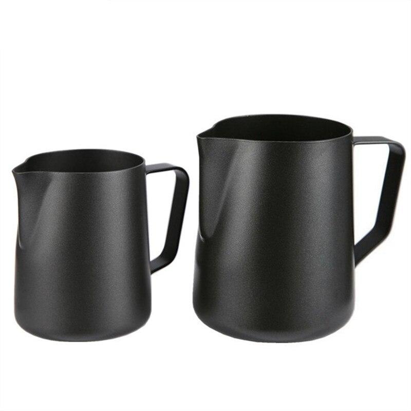 Jarra de acero inoxidable ROKENE antiadherente jarra de leche jarra de café Espresso Barista artesanal café Latte jarra de leche jarra