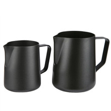ROKENE Non-Stick Stainless Steel Pitcher Milk frothing jug Espresso Coffee Pitcher Barista Craft Coffee Latte Milk Jug Pitcher dispense counter top pitcher rinser for steaming pitcherssteaming pitcher rinser pitcher glass rinser mini sinkspray up faucet