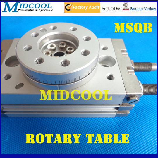 ФОТО MSQB-10A Air cylinder pneumatic Rotating Table Rotary actuators SMC type rack and pinion style 180 degrees swing