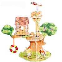 3D DIY Головоломка ЗАМОК модель мультфильм дом сборка игрушка из бумаги малыш Раннее Обучение строительство узор подарок детский дом головоломка