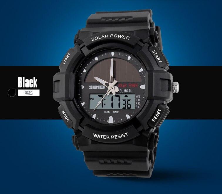 Uhren Skmei Marke Solar Energie 2 Zeit Zone Uhr Wasserdicht 50 M Männer Sport Uhren Digitale Multifunktions Military Armbanduhren Quell Sommer Durst Herrenuhren