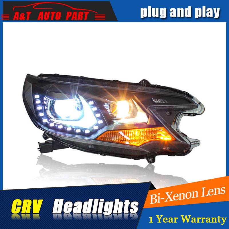 Auto part Style LED Head Lamp for Honda CRV led headlights 2012-2014 for CRV drl H7 hid  Bi-Xenon Lens angel eye low beam auto clud style led head lamp for benz w163 ml320 ml280 ml350 ml430 led headlights signal led drl hid bi xenon lens low beam