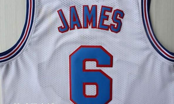 big sale 036e4 fa1b5 Stitched Lebron James Space Jam Jersey Tune Squad,6 Lebron ...