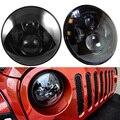 "Black 7"" Round Headlight For Jeep Wrangler 97-15 For Hummer Toyota Defender  40W 7"" for Wrangler TJ JK LED Offroad Driving"