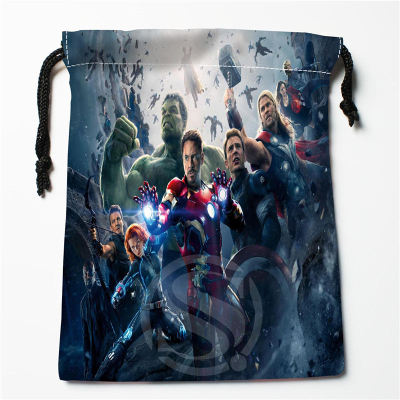 W-116 New Captain America Avengers Custom Logo Printed  Receive Bag  Bag Compression Type Drawstring Bags Size 18X22cm E801ew116