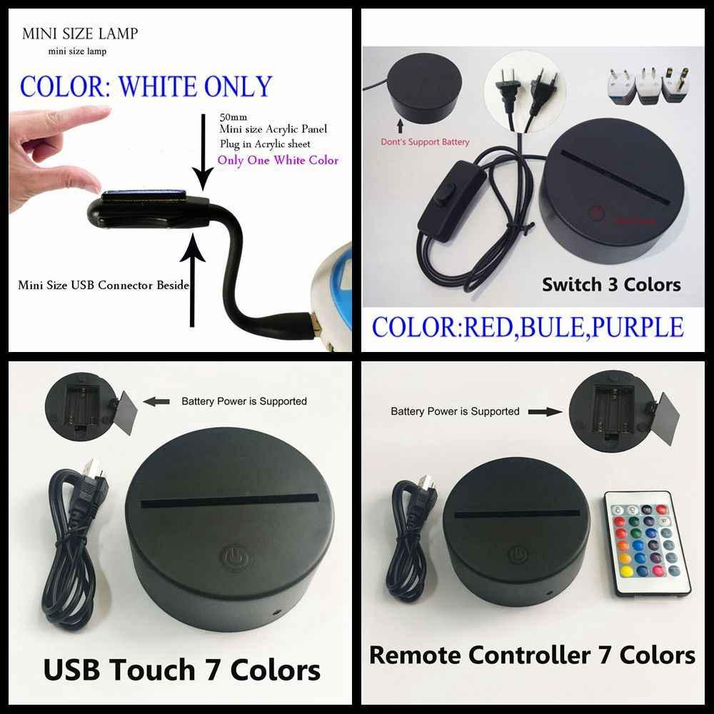 Livraison gratuite LED veilleuse sommeil élégant danseur 3D visuel lampe de chevet blanc cygne Ballet USB tactile lampe de Table multicolore déco