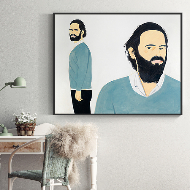 Alex Katz Abstract Figure Canvas Painting Aesthetic Poster And Print Wall Art Pictures For Living Room