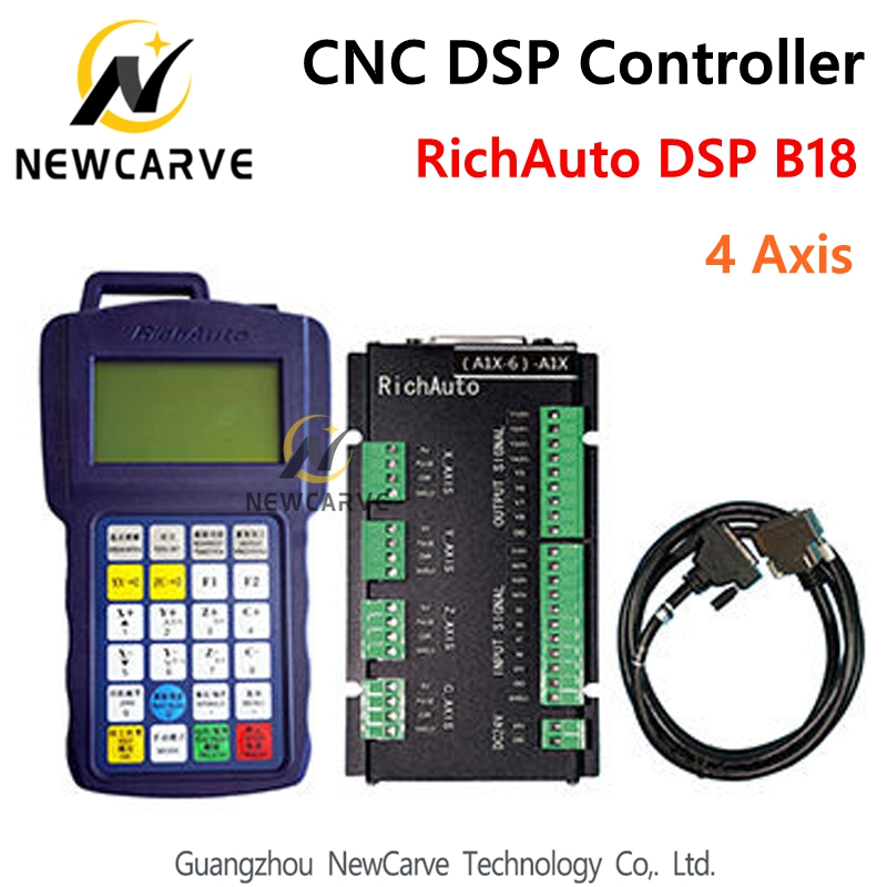 RichAuto DSP B18 4 Axis CNC Controller B18S B18E USB Linkage Motion Control System for Cnc Router Replace A18 Manual NEWCARVE